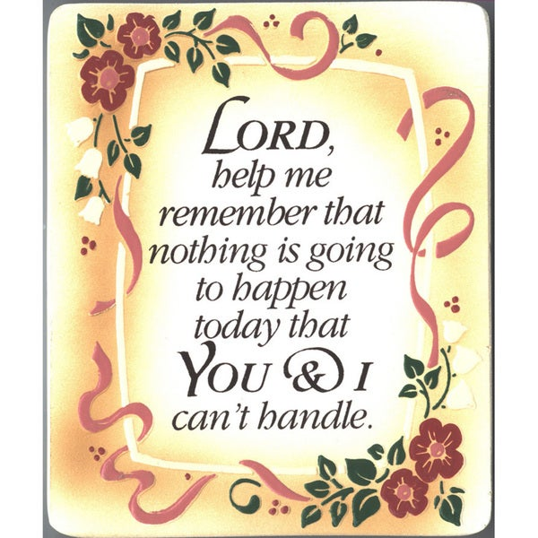 Dexsa Lord, Help Me Remember Embossed Wood Plaque with Easel