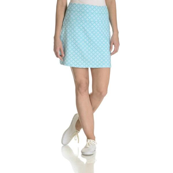 Teez Her Women's Filigree Print Tummy Control Low Waist Skort