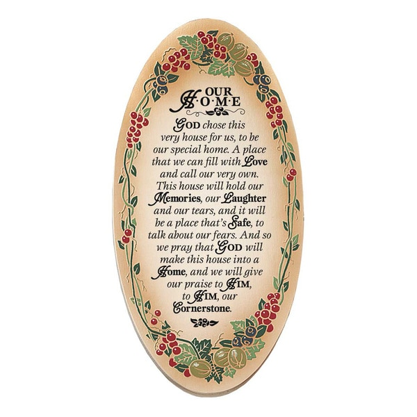 Dexsa Our Home Embossed Wood Plaque with Easel