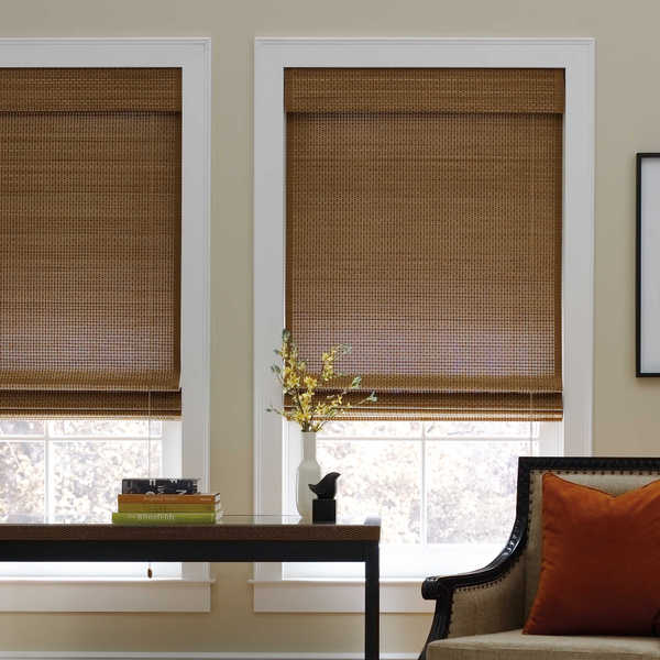 Sand Natural Cordless Bamboo Roman Shade