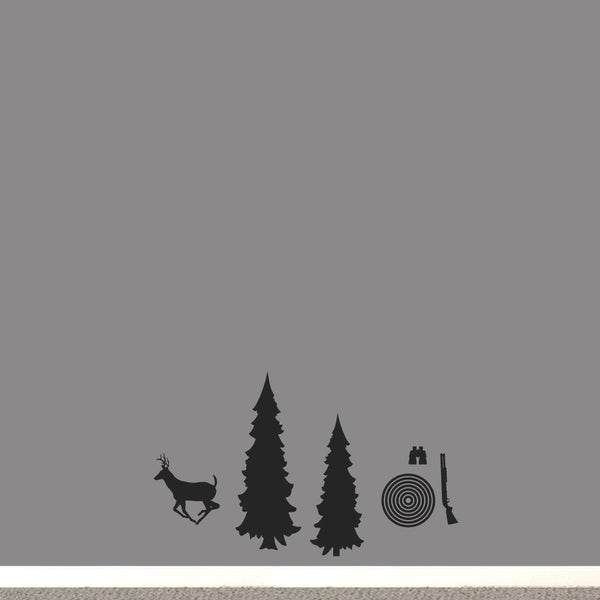 Hunting Pack Small Wall Decal