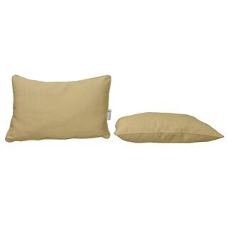Bellini Sunbrella Fabric Lumbar Pillow With Piping (Set of 2)