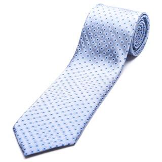 Ermenegildo Zegna Grey-blue Silk Slim Necktie