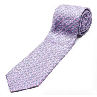 Ermenegildo Zegna Pink-blue Silk Slim Necktie