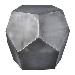 Diamond Decor Stool Zinc Antique