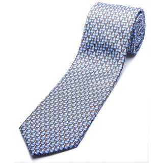 Ermenegildo Zegna Brown-blue Silk Slim Necktie