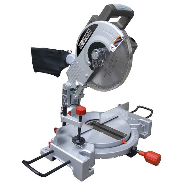 Professional Woodworker 15A 10-inch Compound Miter Saw with Laser