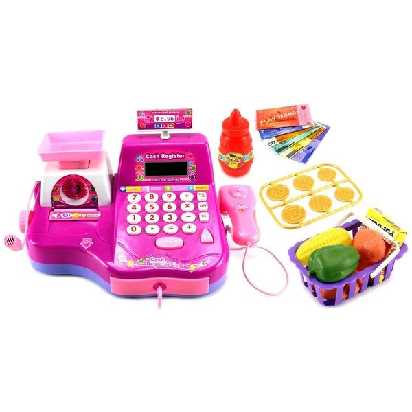 Fun Super Cash Register Pretend Play Battery Operated Toy Cash Register