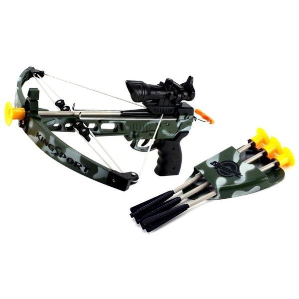 K-Sport Military Army Camo Toy Crossbow Dart Play Set