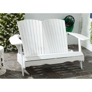 Safavieh Hantom Outdoor White Bench