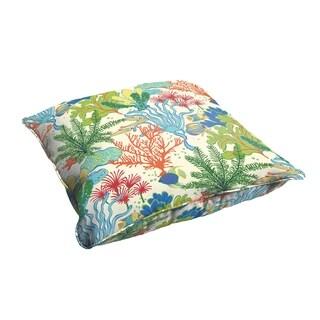 Selena Blue Green Seascape 28 x 28-inch Indoor/ Outdoor Corded Edge Floor Pillow