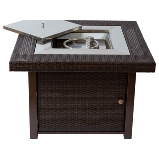 Bombay All-weather Wicker Fire Pit Table