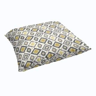 Selena Grey/ Gold Diamonds 28 x 28-inch Indoor/ Outdoor Knife Edge Floor Pillow