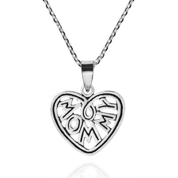 Enduring Love Mommy In My Heart Sterling Silver Necklace (Thailand)