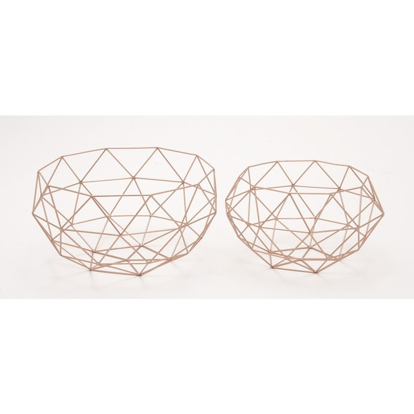 Metal Set of Two Baskets Storage Accessory