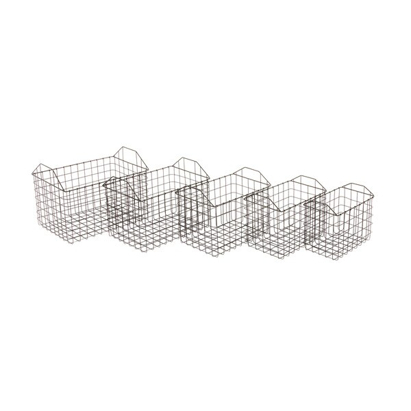 Metal Basket Set of 5 12-inch/ 13-inch/ 14-inch/ 15-inch/ 16-inch Storage Accessory
