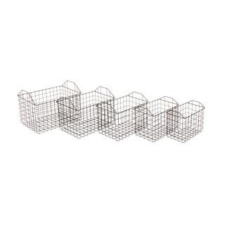 Metal Basket Set of 5 12-inch/ 13-inch/ 14-inch/ 15-inch/ 16-inch Storage Accessory