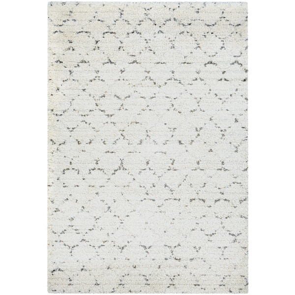 Couristan Bromley 4316/0336 Davos Snow/ Brown Rug (7'10 x 11'2)