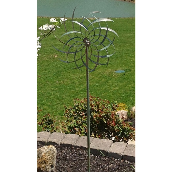 Silver and Green Windswept Spinner
