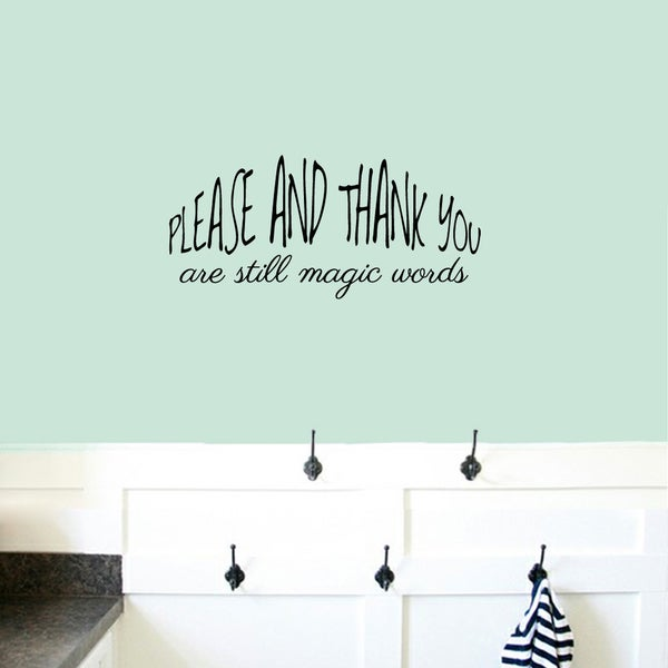 Please And Thank You Small Wall Decal