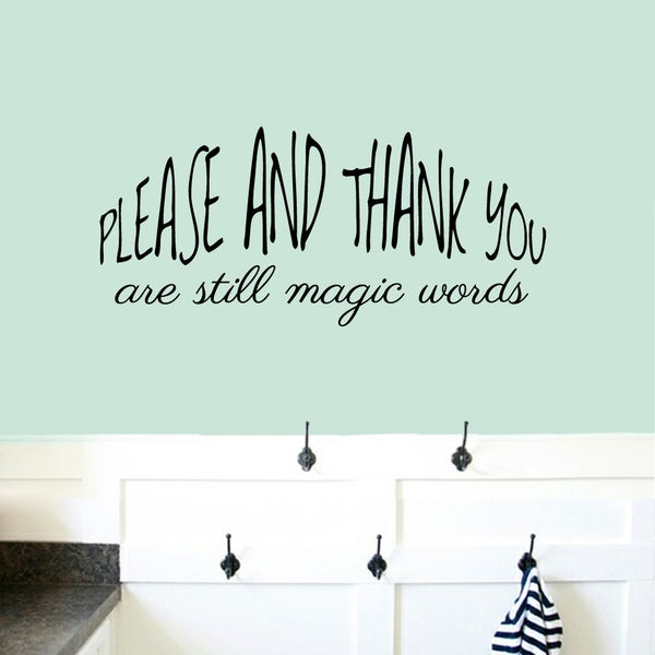 Please And Thank You Medium Wall Decal