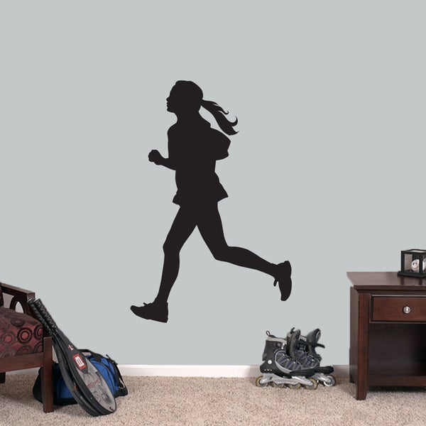 Girl Running Medium Wall Decal
