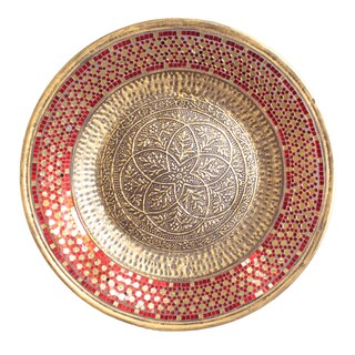 Casa Cortes Handcrafted Metal Mosaic Wall Platter