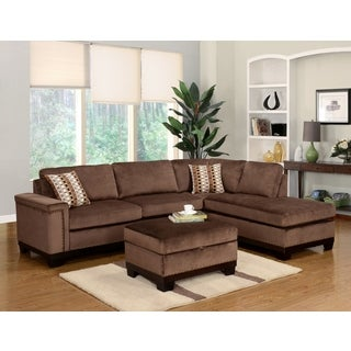 LYKE Home Opal Reversible Brown Sectional