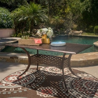 Christopher Knight Home Sebastian Outdoor Cast Aluminum Rectangle Dining Table (ONLY)