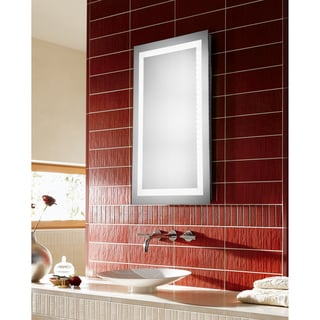 "LED Hardwired Mirror Rectangle W24""H40"" Dimmable 5000K"