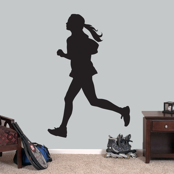 Girl Running Large Wall Decal