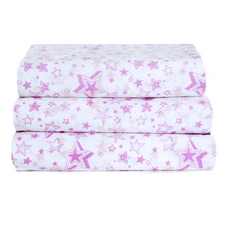 Kuviez Pink Star Wishes Full Sheet Set