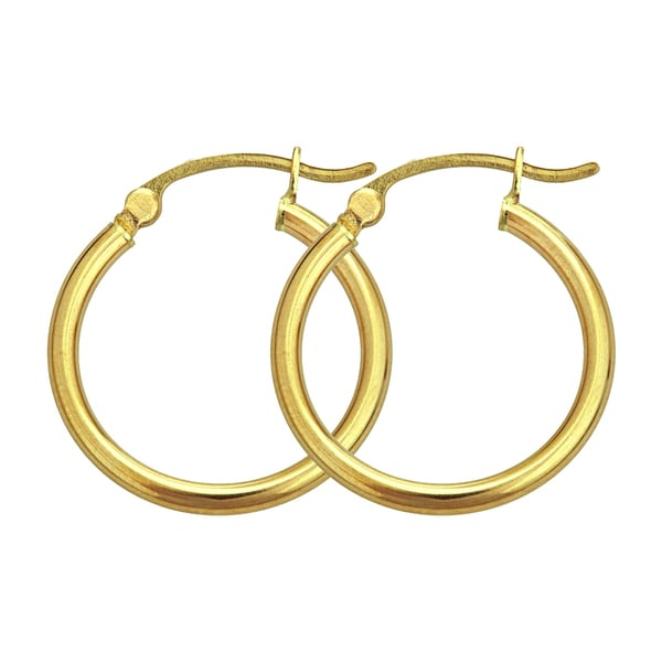 14k Yellow Gold 3mm Circle Hoop Earrings