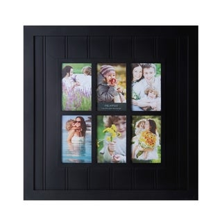Melannco Black Slat 6-picture Window Plastic Collage