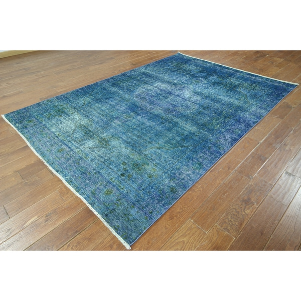 W900 Wool Overdyed Hand-knotted Oriental Rug (7' x 10')