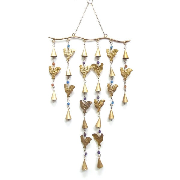 Celebration Rooster and Bells Wind Chime