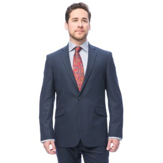 Kenneth Cole Navy Tonal Check Reaction Suit