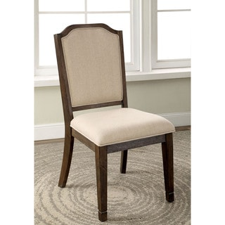 Furniture of America Haylette Rustic Brown Dining Chair (Set of 2)