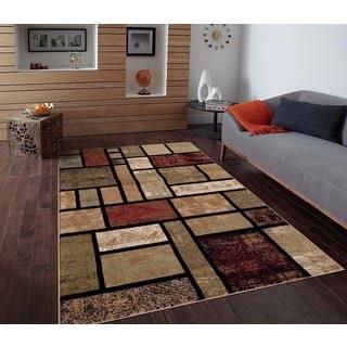 Modern Beige Square Rug (7'10 x 10'2)