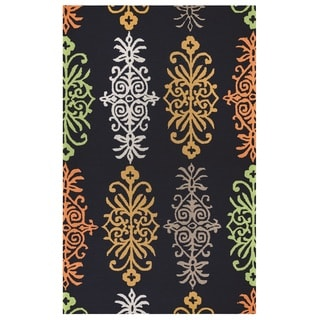 Rizzy Home Azzura Hill Collection Multi-Colored Ornamental Accent Rug (2' x 3')
