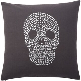 Andrew Charles Studded Skull Print 20-inch Throw Pillow
