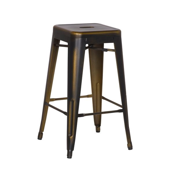 Aurelle Home Metal Acosta Counterstool (Set of 2)