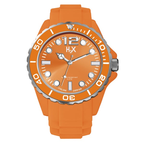 H2X Reef Mens Orange Watch