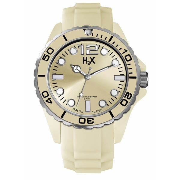 H2X Reef Mens Gold Watch