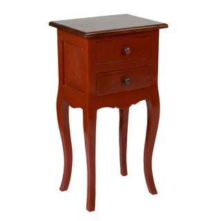 Crafted Home's Landon Side Table in Red