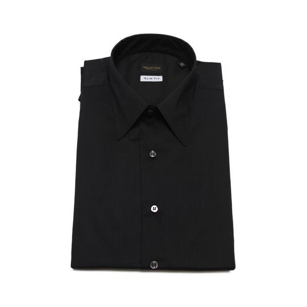 Valentino Men's Slim Fit Stretch Cotton Dress Shirt