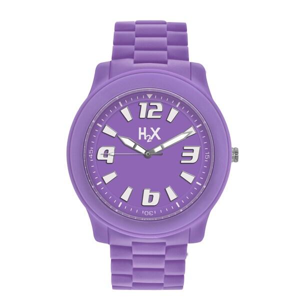 H2X Splash Womens Purple Watch