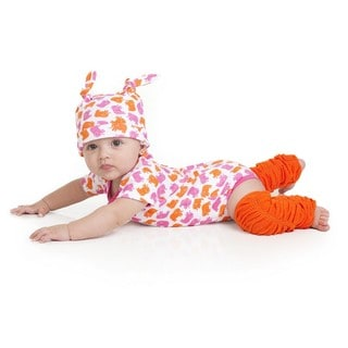Ellie Elephant Girl Orange/ Pink 0-3 Months Gift Set