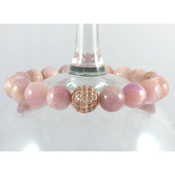 Terra Charmed Kunzite Bead Bracelet with CZ Bead 17546588