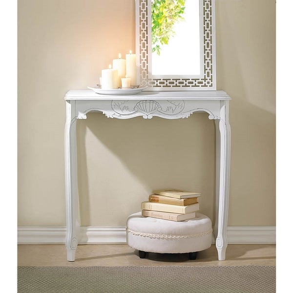 Elizabeth Antique White Accent Table